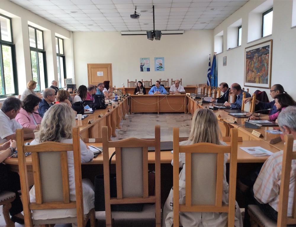 Συνάντηση του Δημάρχου Ανδρέα Κονδύλη με τους Διευθυντές των Σχολείων για την Ανακύκλωση